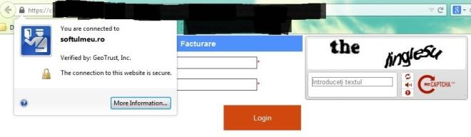 print-screen info conexiune criptata