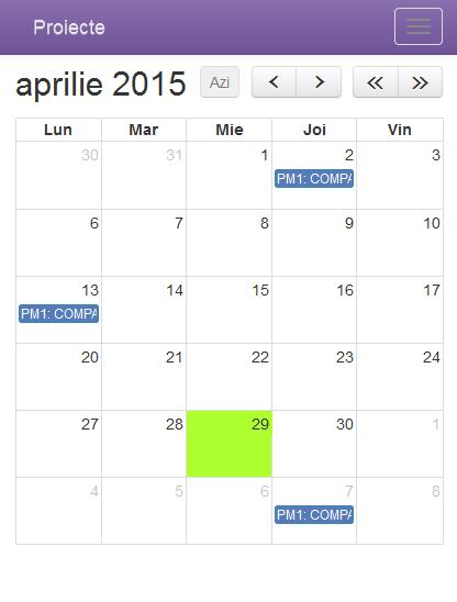 calendar proiecte pentru mobile